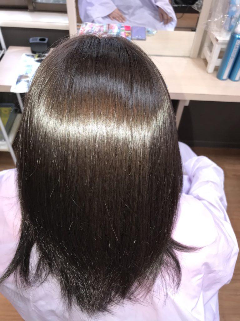 キラ髪:ツヤツヤの髪に・・・。ツヤがすごくて、驚きです♪