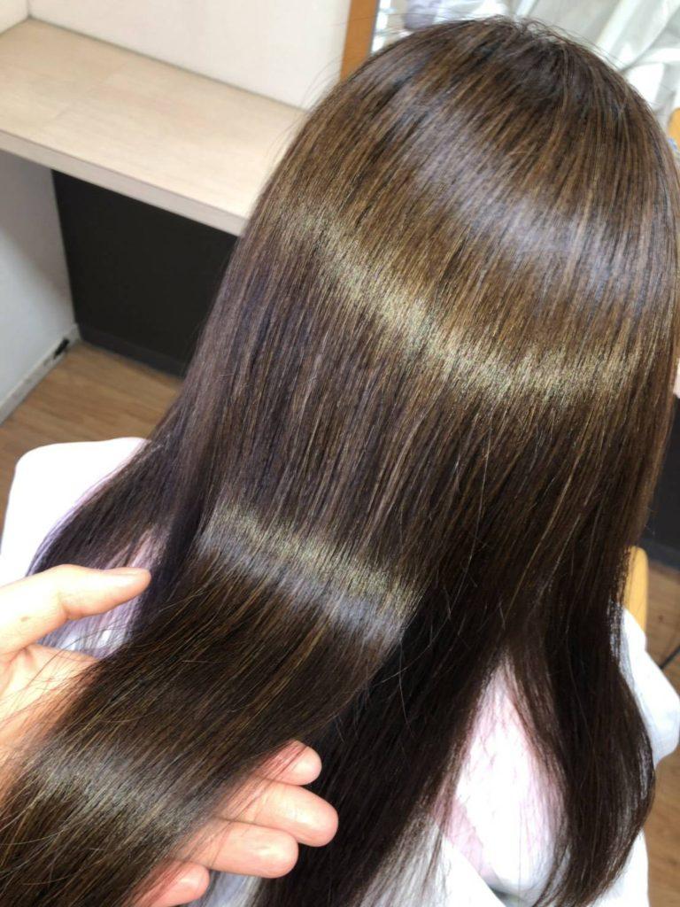 キラ髪☆究極の髪質改善 キラ髪✨①まるでシステムトリートメントをしたかのような仕上がり!!②30回シャンプーしても残る、業界一の持続力。③頭皮の刺激 90%カット!!④薬液の浸透をアップさせます!