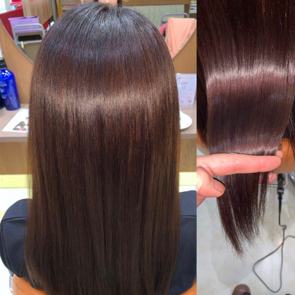 キラ髪★他店でヘアカラーをしたところ、髪の生え際がかぶれてしまった・・・。そんなお客様のご来店です。インターネットで「かぶれないカラー」を検索すると、『キラ髪✨ザクロペインター』の事を知り、取扱店である美容室オクヤマにお越し頂きました♡