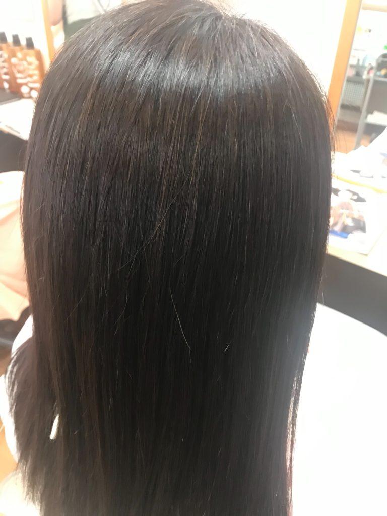 キラ髪☆3ヶ月に一度、定期メンテナンスでご来店頂いているお客様♡キラ髪は、「ぺちゃんこにならず、自然な仕上がりになる。お手入れが非常にラク🎵 3ヶ月位になると少しクセが出てきて気になる。」という声をいただきました。